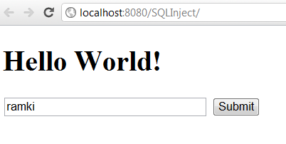SQL Injection in Java Application