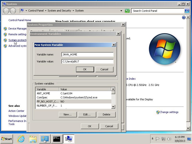 Setup your Java Development Environment in Windows 7