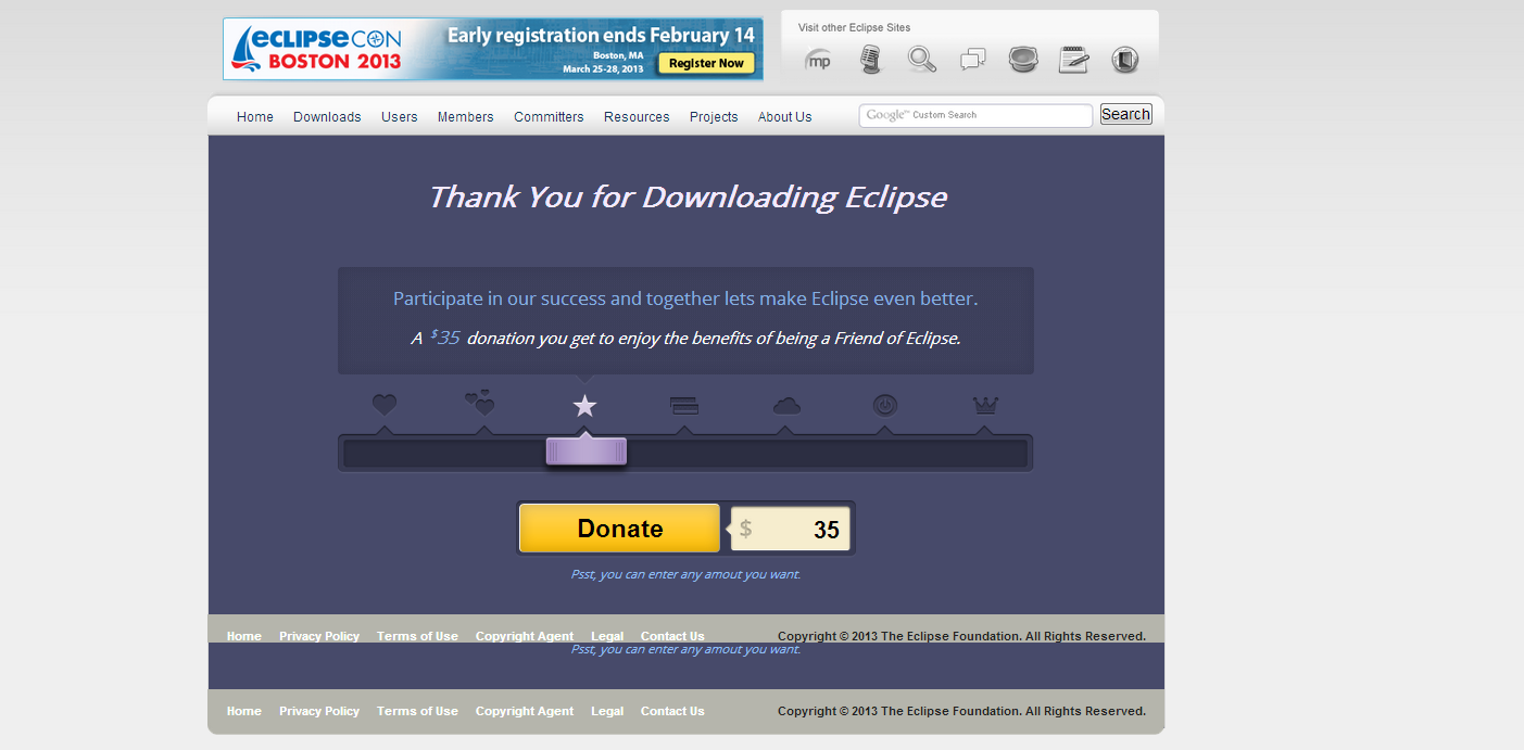 Thank You for Downloading Eclipse