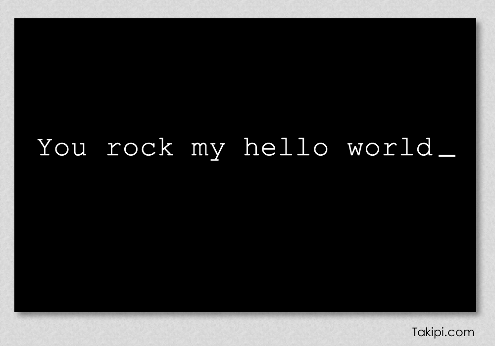 Card - you rock my hello world