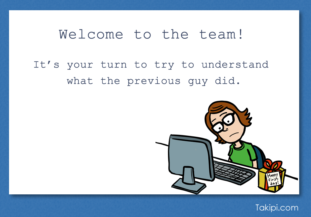 Card - welcome to the team