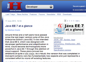 The H-Online (17 June 2013, 14:56) Java EE 7 at a glance