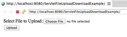 Servlet Upload File and Download File Example
