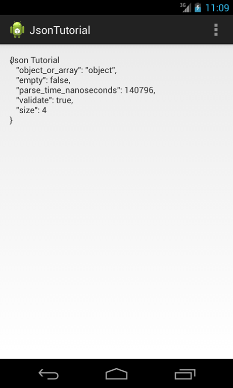 Android JSON Tutorial: Create and Parse JSON data