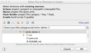 Select File or Directory to Import