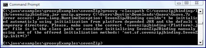 Uncompressing 7-Zip Files with Groovy and 7-Zip-JBinding