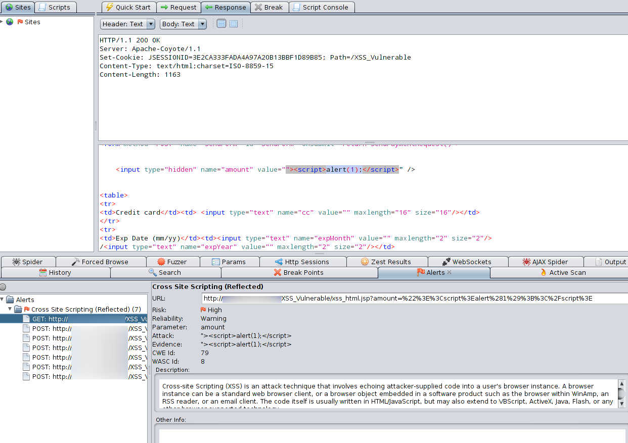 Detecting and Fixing XSS using OWASP tools