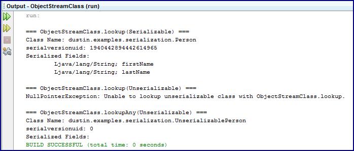 ObjectStreamClass: Peeking at a Java Object's Serialization