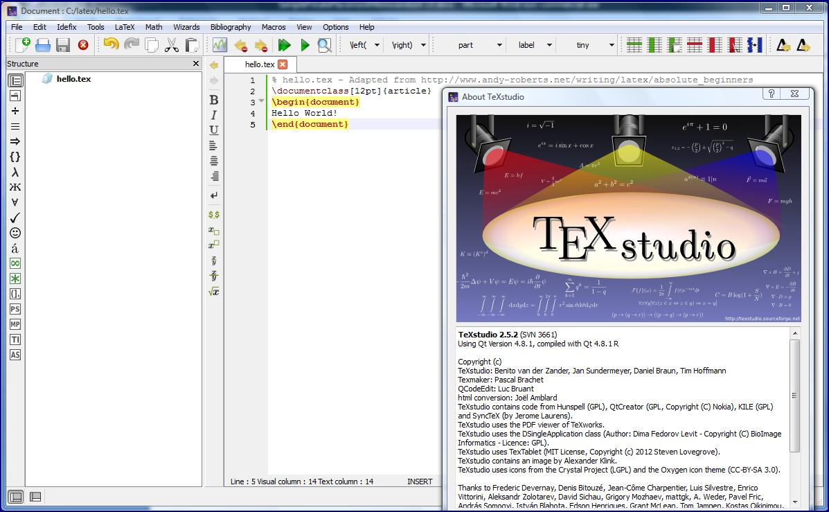 How to begin learning and applying latex helloworldintexstudio buycottarizona Images