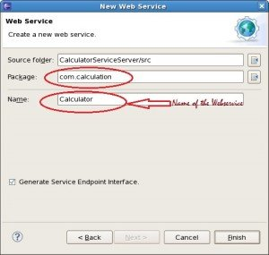 Create New Web Service