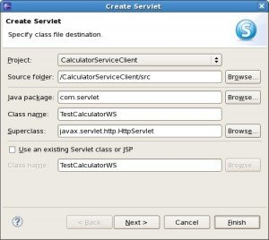 Create Servlet to invoke Webservice