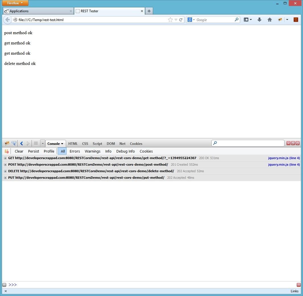 Java EE 7 / JAX-RS 2 0 – CORS on REST
