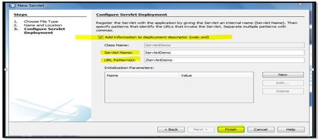 Java Servlet Figure 7: Configuring Servlet Deployment