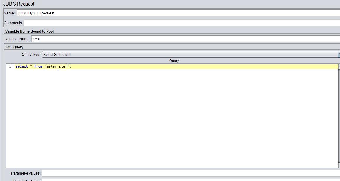 db request configuration