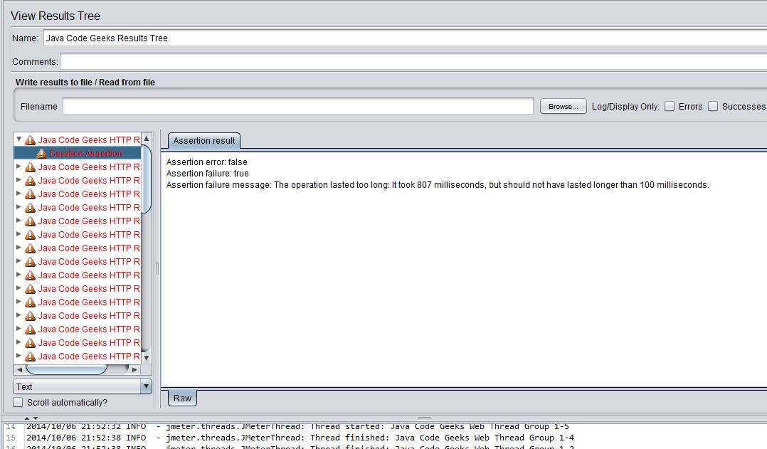 http results error assertion duration