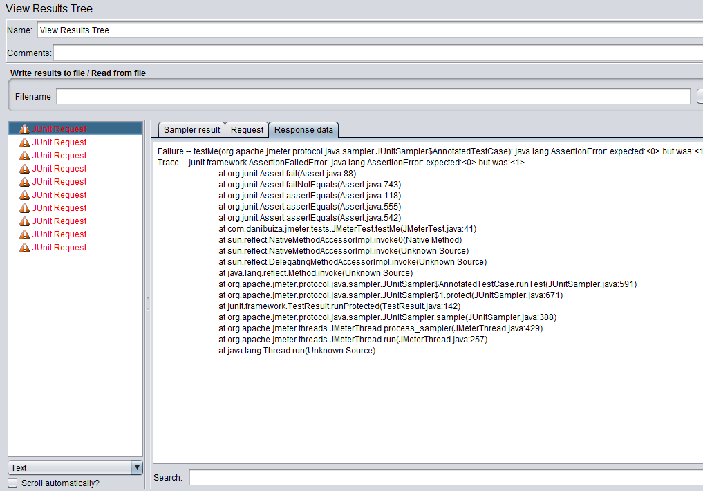 junit view results