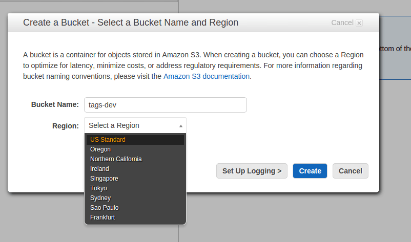 bucket name for s3 bucket