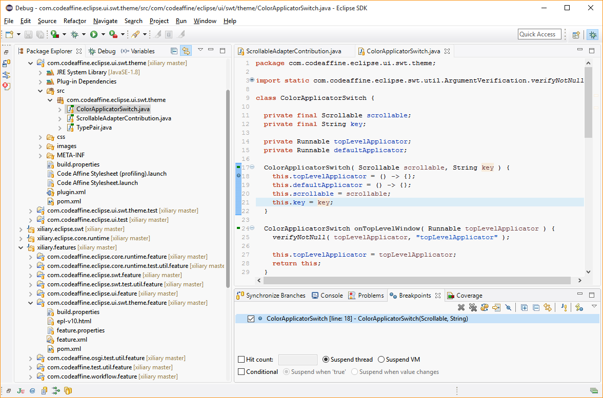 Clean sheet an ergonomic eclipse theme for windows 10 java code clean sheet screenshot baditri Choice Image