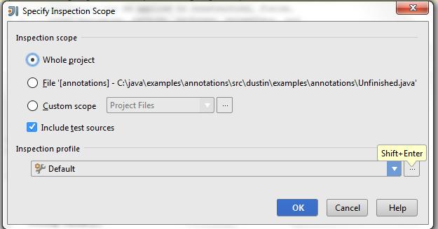 Applying IDE Inspections to Custom Java Annotations | Java