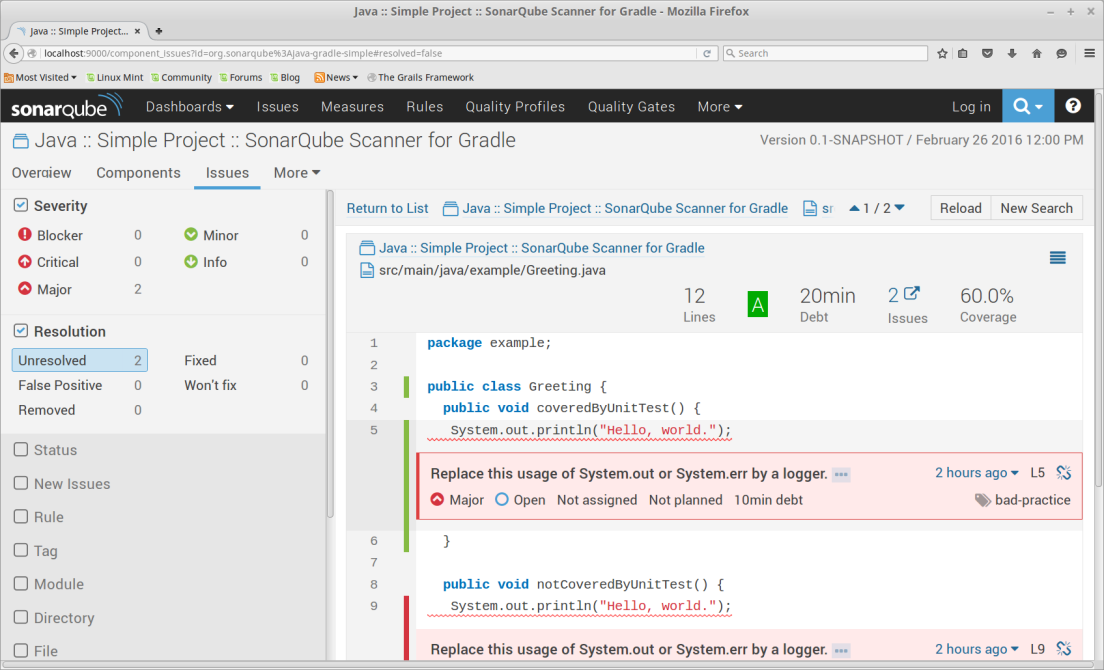 3 Steps For Analyzing a Gradle Project With SonarQube Using Docker