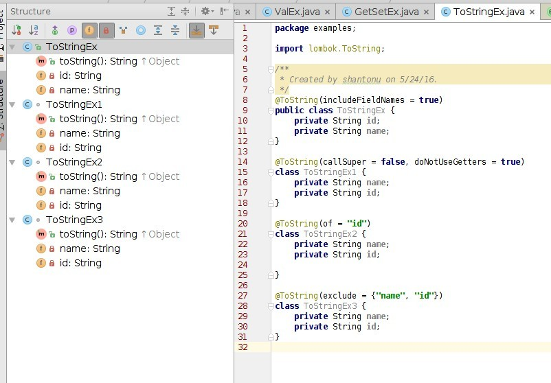 Lombok, a compile time Java annotation preprocessor to minimize code