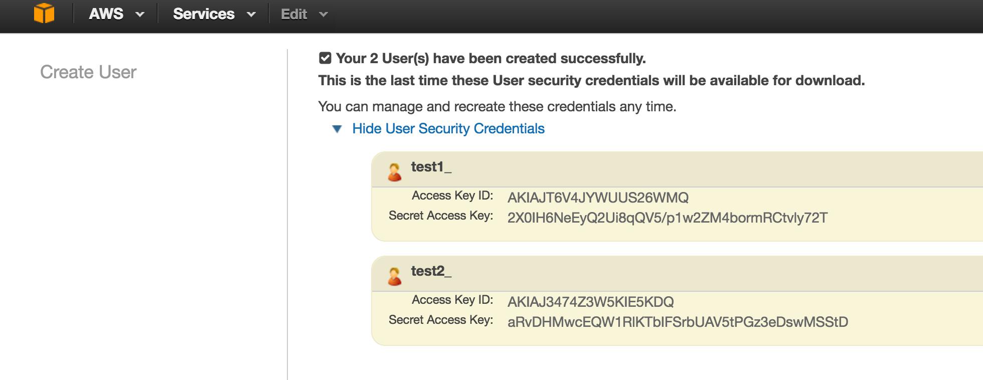 Configuring Amazon Web Services (AWS) for using Lambda