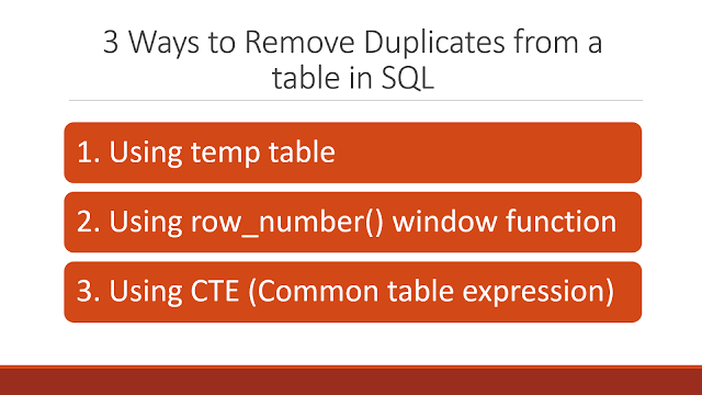 How to remove duplicate rows from a table in SQL | Java Code Geeks