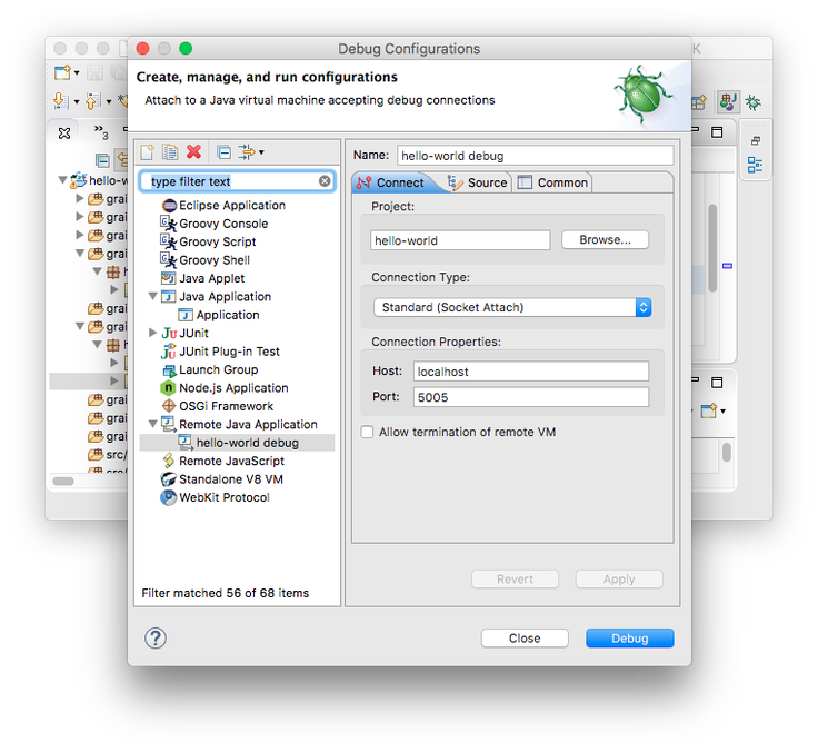 Debugging Grails 3, Spring Boot or Gradle with Eclipse   Java Code