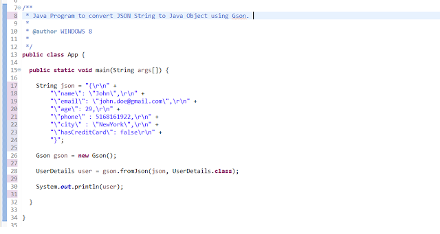 How to Escape JSON String in Java - Eclipse IDE Tips | Java Code
