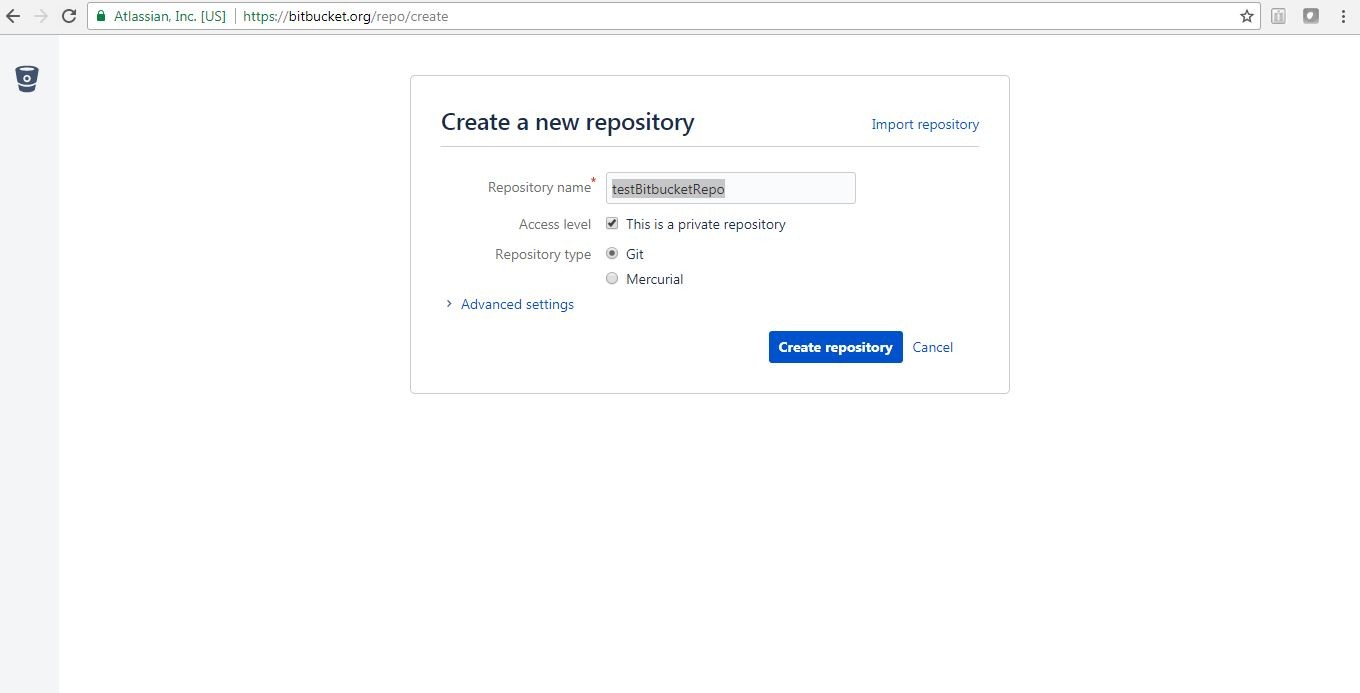 How to create new Git Repository and host it in Bitbucket | Java
