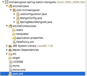 Converting XML to JSON & Raw Use in MongoDB & Spring Batch