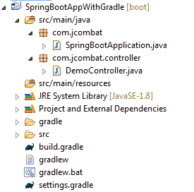 Spring Boot web application with Gradle