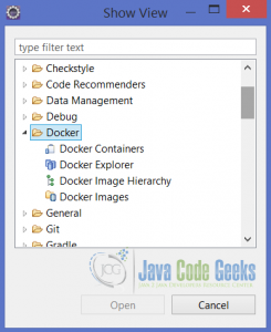 Docker Views in Eclipse