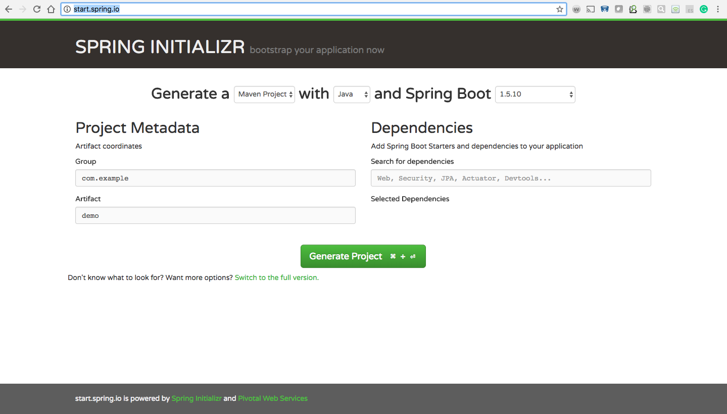 How to Create Spring Boot Project With