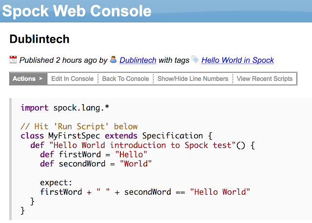 Testing your code with Spock