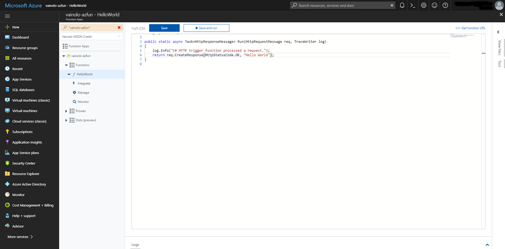 Azure Functions – Part 1: Getting Started | Java Code Geeks