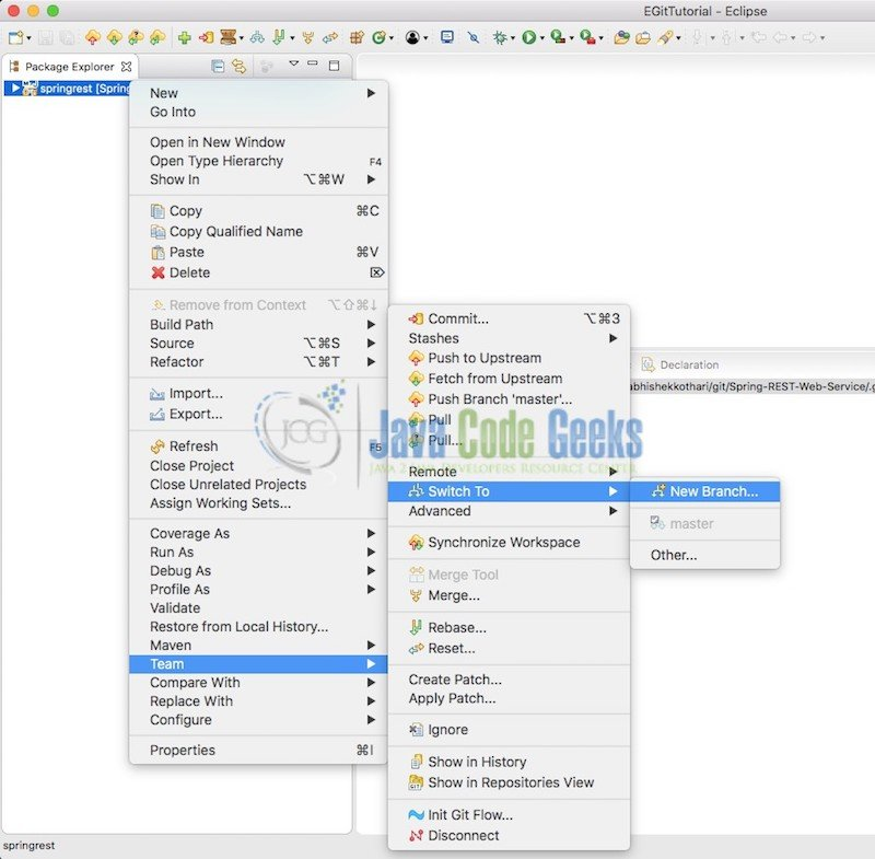 Git version control with Eclipse (EGit) Tutorial | Java Code