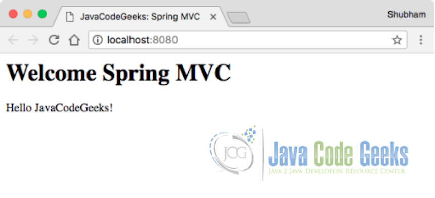 Running Spring MVC Application