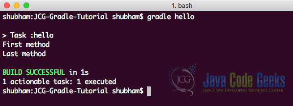 Running our own Task in Gradle