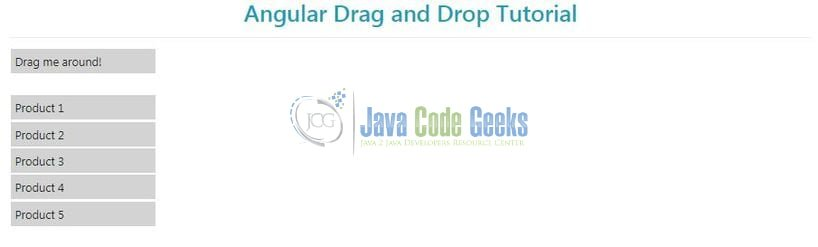 Angular Drag and Drop Example | Java Code Geeks - 2019