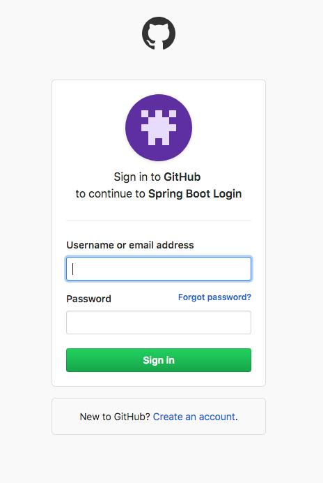 Spring Boot Login Options