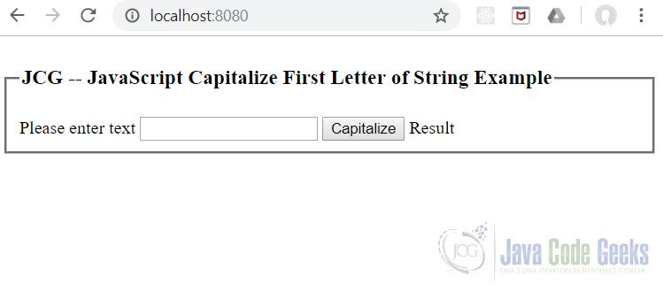 JavaScript Capitalize the First Letter