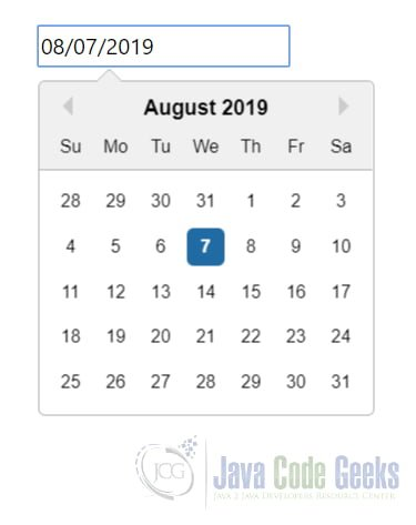 React UI Components - Datepicker Demo